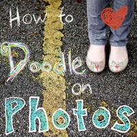 how to draw on photos